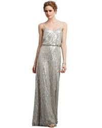 Donna Morgan - Metallic Courtney Spaghetti Strap Sequined Gown - Lyst