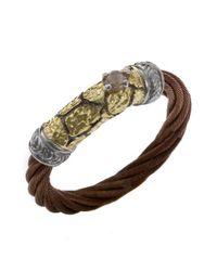 Charriol - Metallic Women'S Sahara 18K Yellow Gold Bronze-Tone Steel Diamond .06Tcw Ring - Lyst