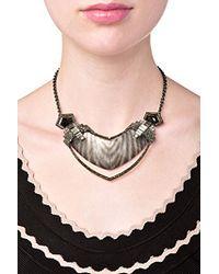 Alexis Bittar - Gray Santa Fe Deco Zebra Frame Bib Necklace - Lyst