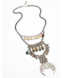 Free People - Metallic Rio Statement Necklace - Lyst