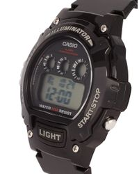 G-Shock | W214hc1avef Digital Black Strap Watch for Men | Lyst