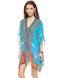 Camilla - Multicolor Short Lace Up Caftan - Take My Hand - Lyst