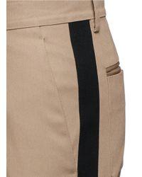 Valentino Natural Tuxedo Stripe Cotton Cavalry Twill Pants for men