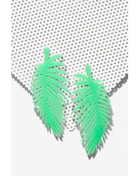 Nasty Gal Green Melody Ehsani Leaf It Out Earrings