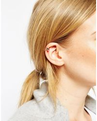 ASOS | Metallic Limited Edition Triangle And Etched Bar Anywhere Ear Cuff Pack | Lyst