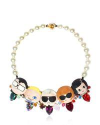 Bijoux De Famille - Multicolor Dress Me Plastron Necklace - Lyst