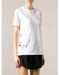 Ermanno Scervino - White Lace Insert T-shirt - Lyst