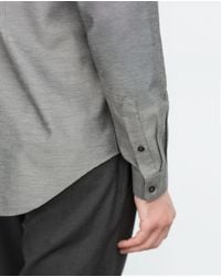 Zara | Gray Plain Shirt for Men | Lyst
