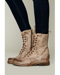 Free People Natural Freebird By Steven Womens Fletch Lace Up Boot