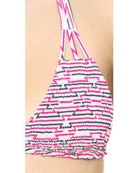 Tori Praver Swimwear   Multicolor Daisy Bikini Top - Jaipur Pitaya   Lyst