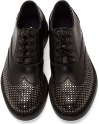 DSquared² - Black Studded Shortwing Oxfords for Men - Lyst