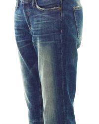 Current/Elliott - Blue Straight Cropped Low-Rise Stretch-Denim Jeans - Lyst
