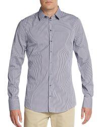 Dolce & Gabbana | Gray Plaid Cotton Sport Shirt for Men | Lyst