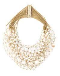Rosantica | Metallic Pearl Necklace | Lyst