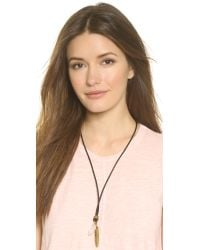Vanessa Mooney Metallic The Heartbreaker Leather Necklace - Black/gold