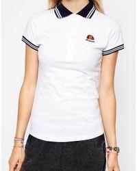Ellesse White Polo T-Shirt