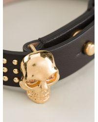 Alexander McQueen Metallic Skull Detail Bracelet