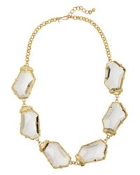 Kenneth Jay Lane - Metallic Gold-plated Crystal Necklace - Lyst