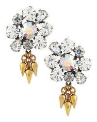 Lulu Frost - White Lana Flower Crystal Stud Earrings - Lyst