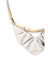 Forever 21 | Metallic Geometric Bib Necklace You've Been Added To The Waitlist | Lyst