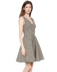 N°21 | Black Gingham Full Skirt Dress | Lyst