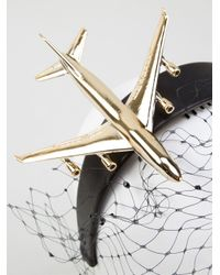 Piers Atkinson - Black Airplane Headband - Lyst