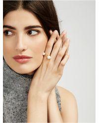 BaubleBar - White Snowball Ring - Lyst