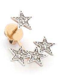 Kismet by Milka | Metallic Wonder Woman White Diamond Stars Ear Jacket | Lyst