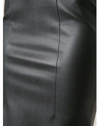Cedric Charlier Black Pencil Skirt