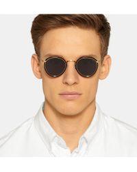 Eyevan 7285 - Metallic Round-Frame Acetate And Metal Sunglasses for Men - Lyst