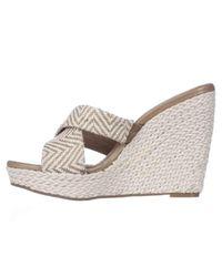 Splendid White Dinah Wedge Espadrille Slide Sandals