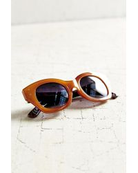 Urban Outfitters Brown Industrial Chunk Cat-eye Sunglasses