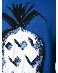Paul & Joe - Blue Pineapple Intarsia Sweater for Men - Lyst