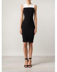 Narciso Rodriguez - Black Color Block Dress - Lyst