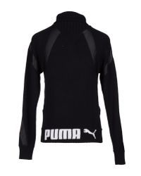 PUMA - Black Turtleneck for Men - Lyst