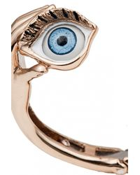 Bernard Delettrez | Metallic Hands And Eyes Stiff Bracelet | Lyst