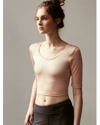 Free People | Pink Ballerina Crop Top | Lyst