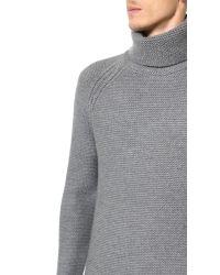 Helmut Lang | Gray Soft Grid Turtleneck Pullover for Men | Lyst