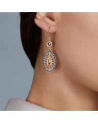 Miguel Ases | Orange Topaz Quartz Drop Earrings | Lyst