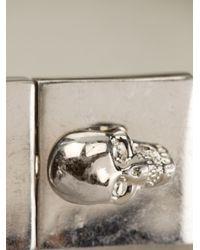 Alexander McQueen Metallic Skull Chain Bracelet for men