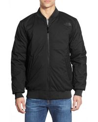 The North Face | Black 'woodside' Reversible Bomber Jacket for Men | Lyst