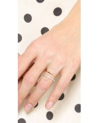 Elizabeth and James Metallic Dylan Band Ring - Gold/clear