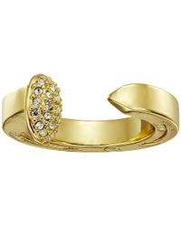 Giles & Brother Metallic Railroad Spike Ring W/ Pave