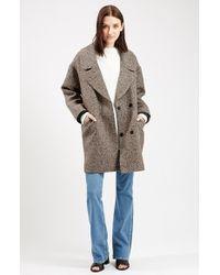 TOPSHOP Natural 'amelia' Slouch Coat