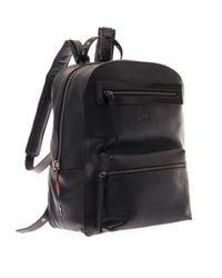 Christian Louboutin Black Aliosha Leather Backpack for men