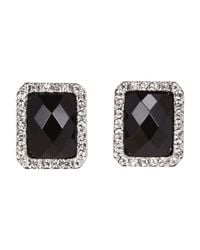 Carolee | Silver-Tone & Black Emerald Cut Earrings | Lyst