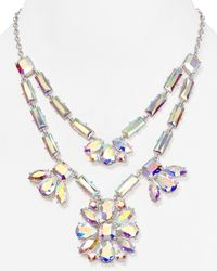 kate spade new york | Metallic Capital Glow Statement Necklace 18 | Lyst