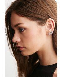 Forever 21 - White Cc Skye Lash Ear Pins - Lyst