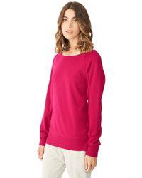 Alternative Apparel - Purple Essential Maniac Eco-micro Fleece Pullover Sweatshirt - Lyst