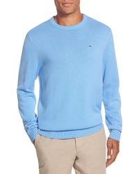 Vineyard Vines | Blue 'whale' Classic Fit Cotton Crewneck Sweater for Men | Lyst